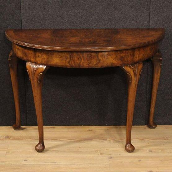 Английский полукруглый консольный стол