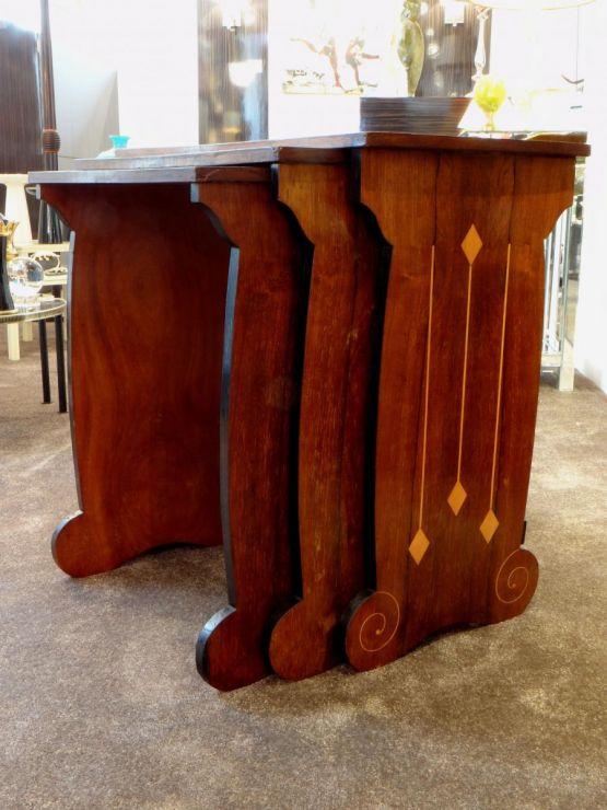Набор трех столиков в стиле Ар-Деко. Австрия, ХХ в