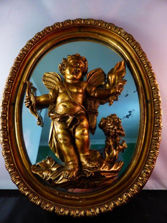 Декоративное зеркало с херувимом, ХХ в.