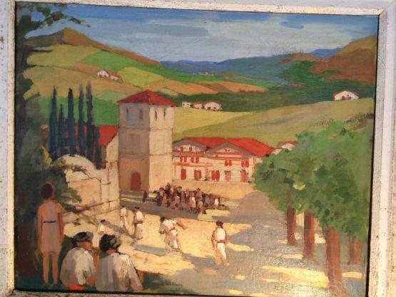 'Игроки в пелоту'.  G. Nereau, 1946 г.