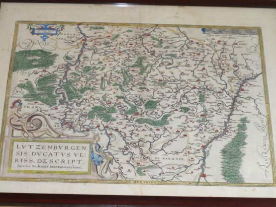 Карта герцогства Люксембург, XVI в.