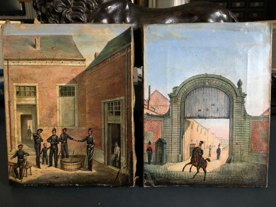 Две картины 'Армия земли', XIX в.
