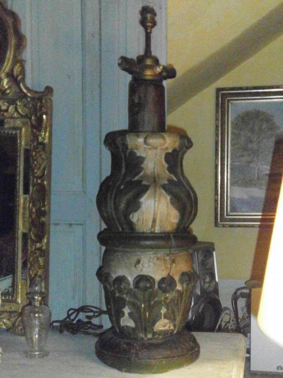 Резная деревянная лампа, XVIII в.
