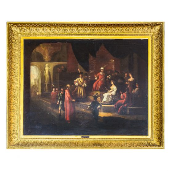 Картина 'Собрание людей в Средние Века'.