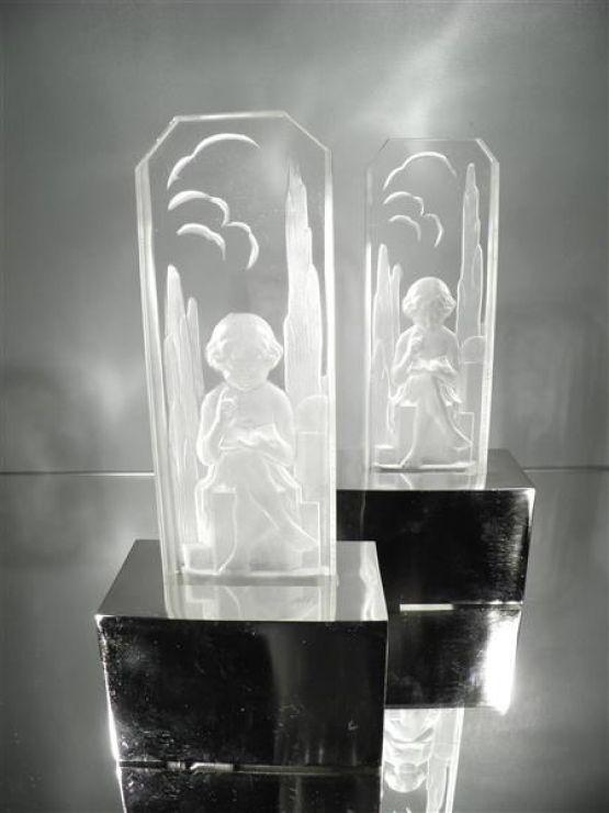 Два светильника. Hettier & Vincent, 1920-1930 гг.