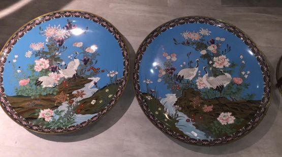 Два медных блюда, Япония, ок. 1900 г.
