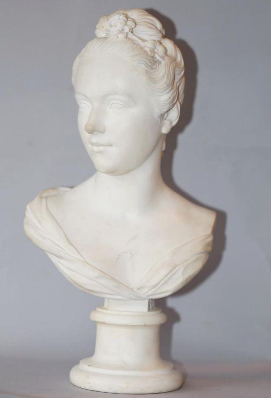 Женский мраморный бюст. Франция, XIX в.