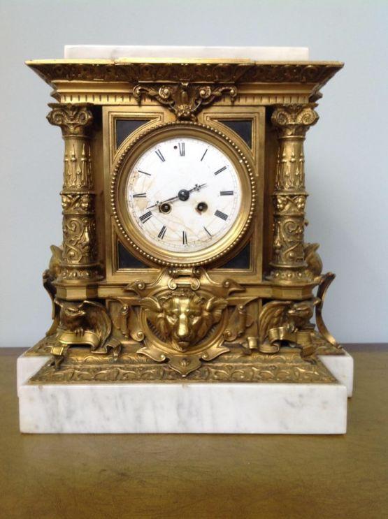 Квадратные часы эпохи Наполеона III, XIX в.