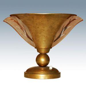 Лампа из позолоченной латуни в стиле Ар-Деко, ХХ в