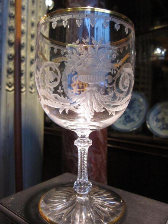Хрустальный бокал Сен-Луи с монограммой, XIX в.