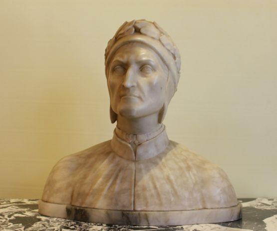 Мраморная скульптура Данте
