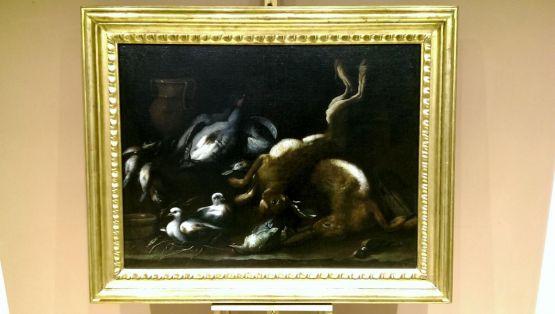 Натюрморт с голубями. Angelo Maria Rossi, XVII в.