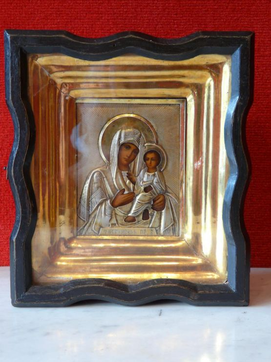 Икона Тихвинской Божьей Матери, конец XIX в.
