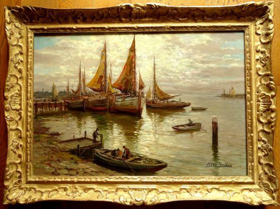 'Вид на гавань'. Kees Terlouw, XX в.