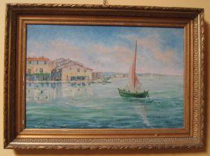 Морской пейзаж. L. Massonnet, 1926 г.