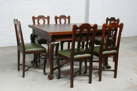 Стол и стулья в стиле ЛюдовикаXV