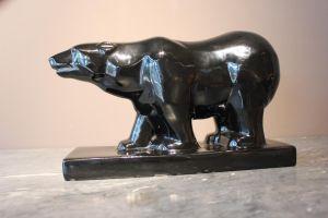 Керамическая статуэтка полярного медведя, ХХ в.