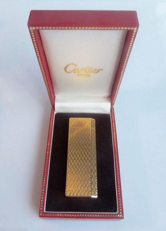 Зажигалка в кожаном футляре, Cartier, XX в.