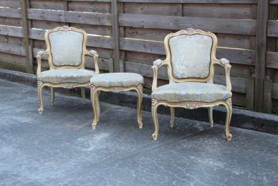Кресла с подставкой для ног, Людовик XV