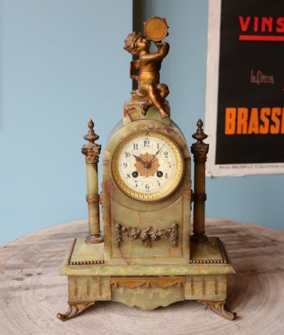 Часы из бронзы и оникса, 47 см