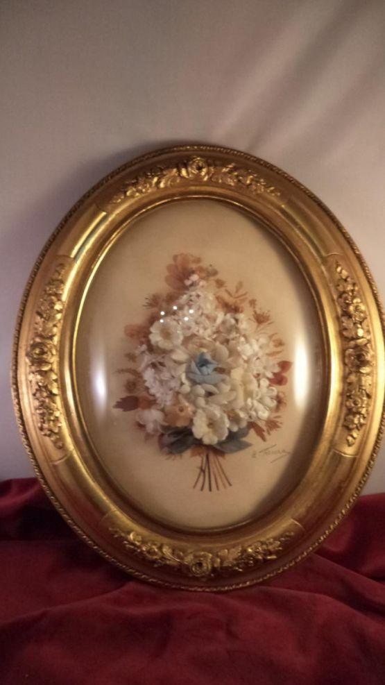 Декоративное панно с цветами, XIX в.