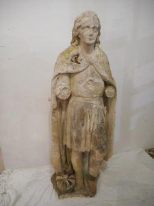 Каменная статуя женщины XVIII в., Франция
