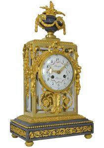 Часы из  позолоты, бронзы и стекла. Вouquet, XIХ в