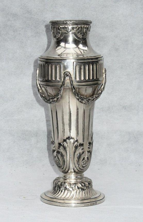 Серебряная ваза в стиле Людовика XVI, XIX в.