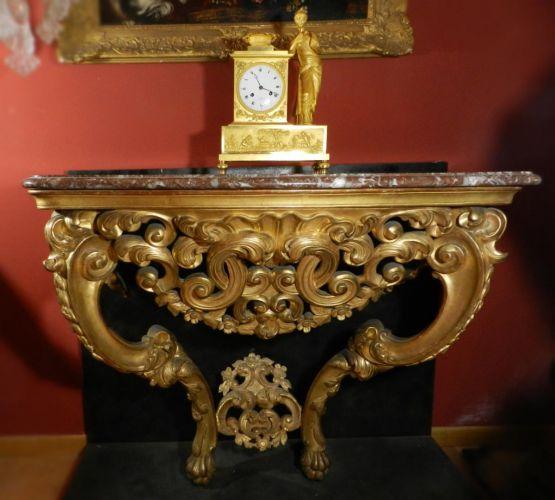 Консоль из позолоченного дерева эпохи Людовика  XV
