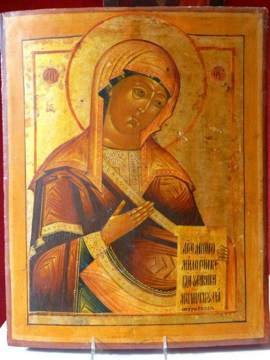 Икона Божьей Матери, первая половина XIX в.