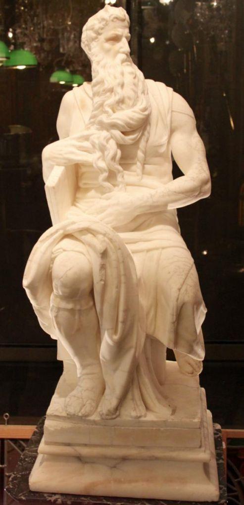 Скульптура Моисея из каррарского мрамора, XVIII в.
