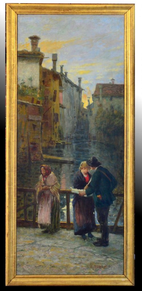 'Вид на каналы Милана'. Carlo Tagliabue, ХХ в.