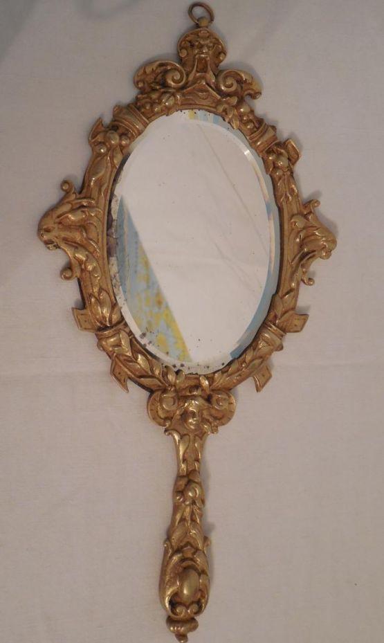 Ручное зеркало из бронзы, конец XIX в.