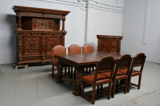 Столовый гарнитур в стиле Ренессанса