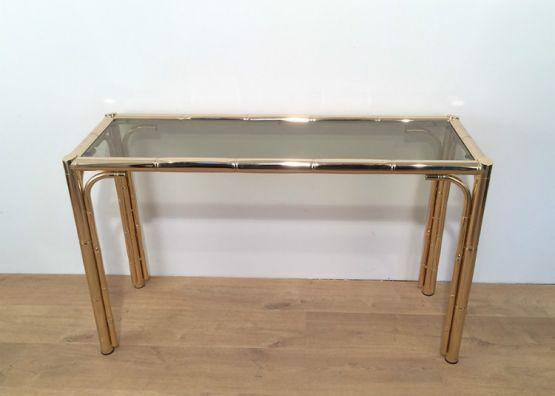 Позолоченный консольный столик, 1970 г.
