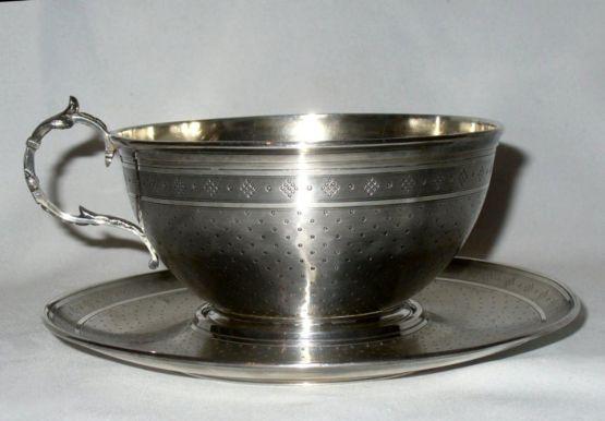 Серебряная чашка для шоколада, XIX в.