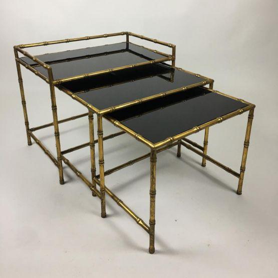 Комплект кофейных столиков в стиле Jansen, ХХ в.